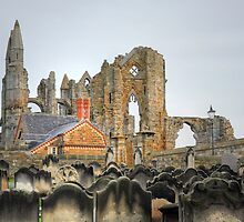 Whitby Abbey - From back to front...Past, Present and Future. by Charlie  Durán