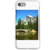 Half-Dome in Yosemite from Merced River Raft iPhone Case/Skin