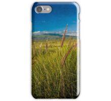 Grasslands of the Big Island in vintage look. iPhone Case/Skin