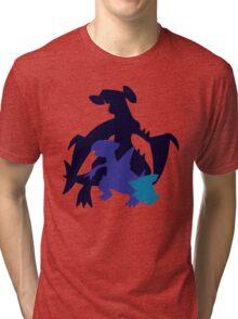 Gible Gabite Garchomp Tri-blend T-Shirt