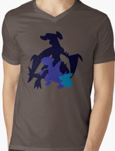 Gible Gabite Garchomp Mens V-Neck T-Shirt
