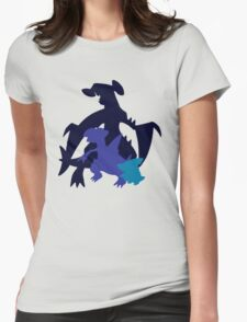 Gible Gabite Garchomp Womens Fitted T-Shirt