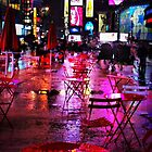 Rainy Night in Times Square by Barbara  Brown