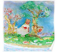 My Valentine Whimsical Designer Art Poster