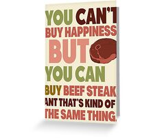 Steak Night Greeting Card