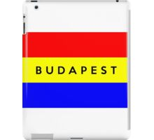 budapest city flag iPad Case/Skin