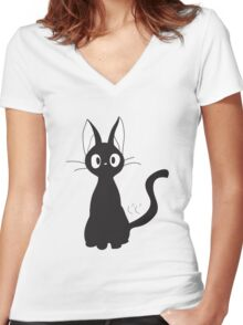 JiJi- Kikis delivery service Women's Fitted V-Neck T-Shirt