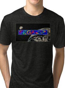 Sega CD Logo Shirt Tri-blend T-Shirt