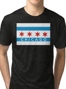 chicago flag Tri-blend T-Shirt