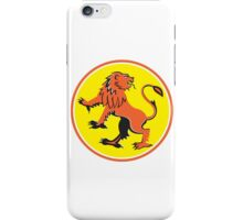 Griiffin Prancing Looking Back Circle Retro iPhone Case/Skin