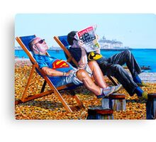 Seaside Super Heroes Canvas Print