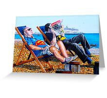 Seaside Super Heroes Greeting Card