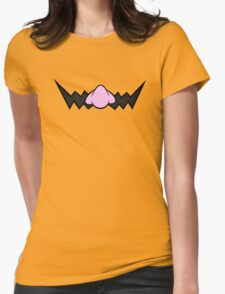 Wario Mustache Womens Fitted T-Shirt