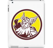 Norse God Odin Raven Circle iPad Case/Skin