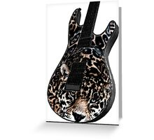 Guitar Leopard Greeting Card