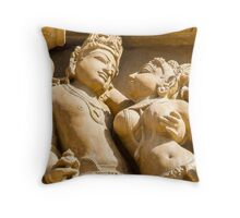 The Lovers Khajuraho Throw Pillow