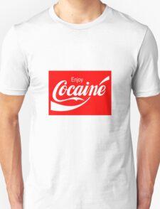 Enjoy Cocaine (Red Print on White Tshirt) T-Shirt