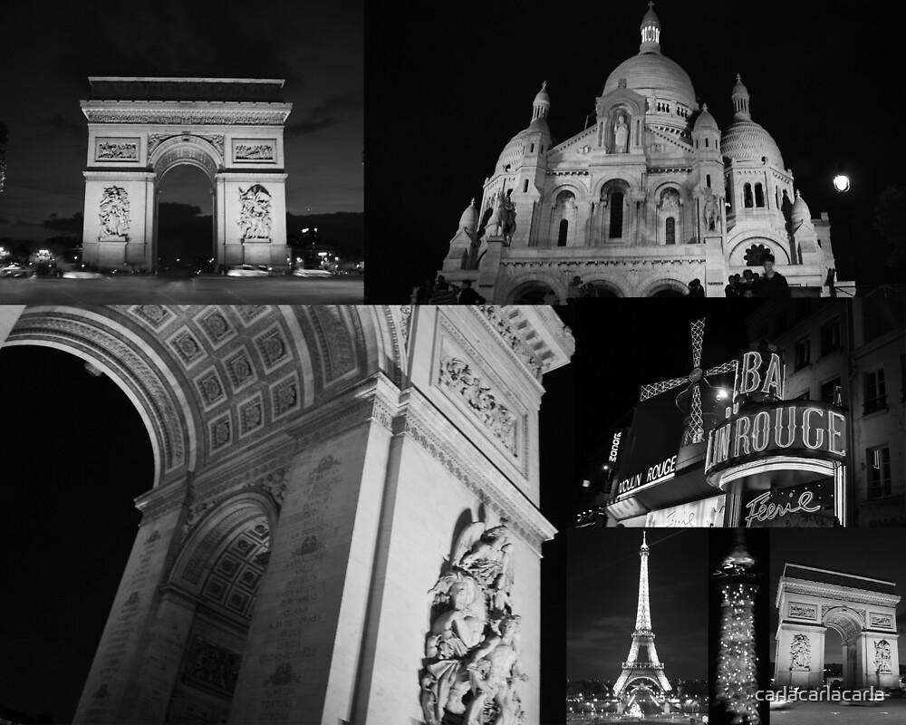 Paris by Night by carlacarlacarla