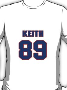 National football player Keith Ortego jersey 89 T-Shirt