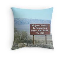 Mojave Visitor Information Throw Pillow
