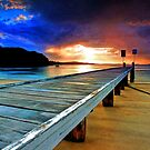 Little Beach Aglow - Artistic by Centralian Images