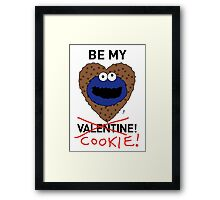 COOKIE MONSTER VALENTINE'S CARD 2 Framed Print