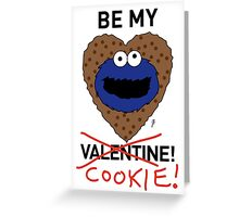COOKIE MONSTER VALENTINE'S CARD 2 Greeting Card