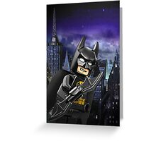 Lego Batman is there! Greeting Card