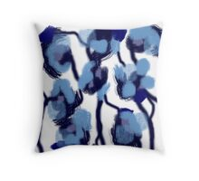 Homage Tim and Anna Bedroom/ Blue Flowers Throw Pillow