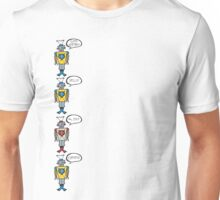Robots Having a Bad Day Unisex T-Shirt