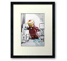 Lego Iron Man Framed Print