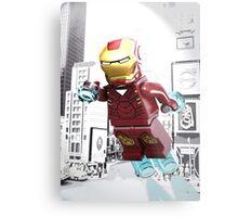 Lego Iron Man Metal Print