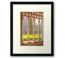 Mosteiro da Batalha Claustro. King John I Cloisters of Batalha Monastery. Framed Print