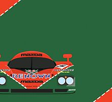 Mazda 787B 24 Hours of Le Mans winner 1991 by ApexFibers