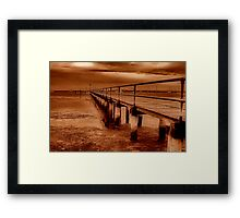 """""""Griffins Gully Jetty"""" Framed Print"""