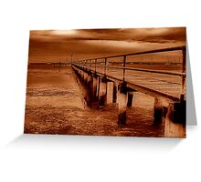 """""""Griffins Gully Jetty"""" Greeting Card"""