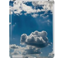relief  beautiful clouds in during the late evening iPad Case/Skin