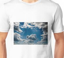 relief  beautiful clouds in during the late evening Unisex T-Shirt
