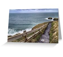 Carrick-a-Rede Stairs Greeting Card