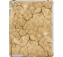 Clay soil with cracks without water. soil erosion iPad Case/Skin
