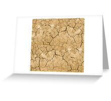 Clay soil with cracks without water. soil erosion Greeting Card