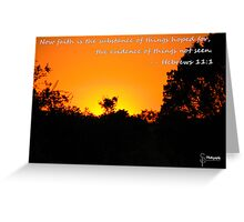 Faith... Greeting Card