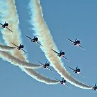 Red Arrows in Saudi Arabia 01 by Graham Taylor