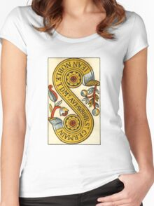 Two Of Coins Tarot Card Women's Fitted Scoop T-Shirt