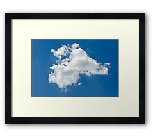 lone cloud in the pure blue sky Framed Print