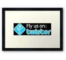 Fly us on Twister Framed Print