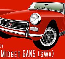 MG Midget Mark III SWA blaze by car2oonz