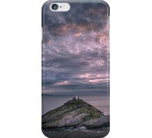 Sunrise at Mumbles lighthouse iPhone Case/Skin