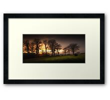 Sunset at Ravenhill park Framed Print