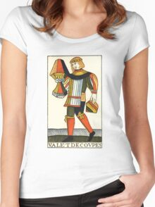 Page Of Cups Women's Fitted Scoop T-Shirt